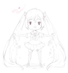 Miku's Flowers by HSanti