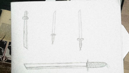 Rough sketch of Samurai swords. by Damsellover50