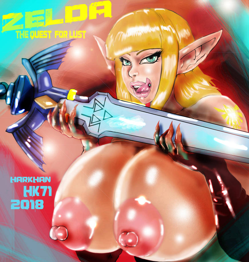 Zelda and the master sword by HARKHAN71