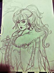 Yuki Onna (WIP) by FilXVII