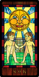 Stained Glass Tarot: The  Sun by FilXVII