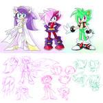 Sonic Underground redesign+doodle by Y-FireStar
