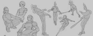 line sketches by nbekkaliev