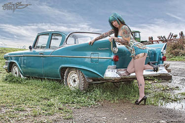 The Car at The Farm by Miss-MischiefX