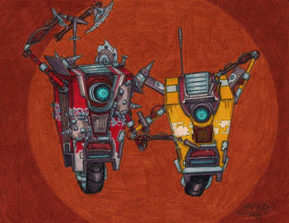 Draw A Claptrap (Or Two) by AkulaShuvelle