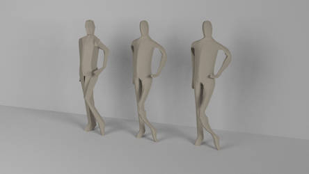 Human Shapes I - Standing by TheKehlim