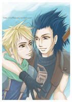 Zack and Cloud- FF VII  Crisis Core / Color by CoffeeCat-J