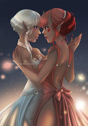 Embers to Stars - Elya and Fraie Dance by CoffeeCat-J