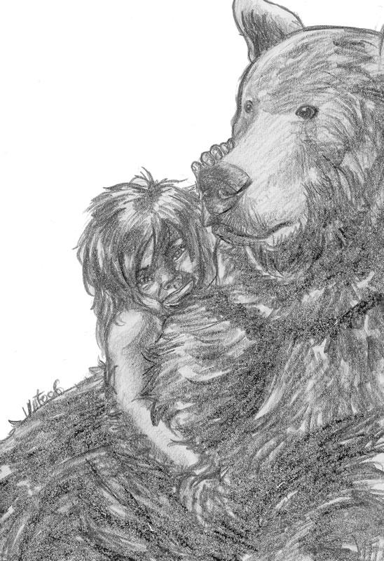 Mowgli y Baloo by Vatos