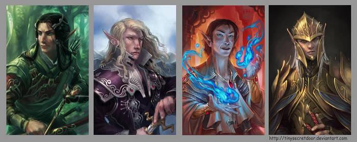Fantasy Portraits 5 by TinySecretDoor