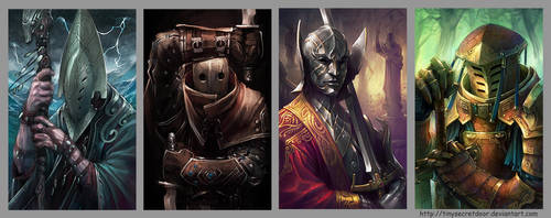 Fantasy Portraits 8 by TinySecretDoor