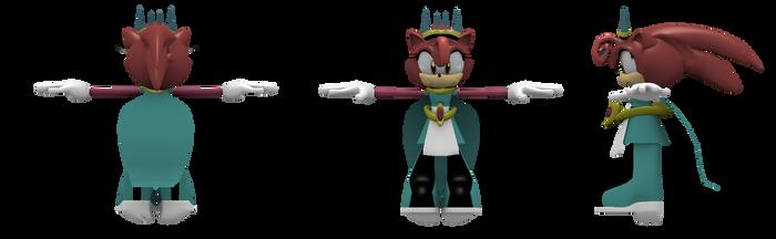 (Prototype)Queen Aleena the Hedgehog(model sheets) by Gamerz31w