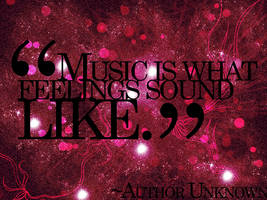 Music Quote by cho-oka