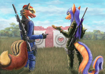 Target Practice by Scorpion451