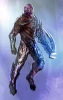 Sci fi alien soldier by Nahelus