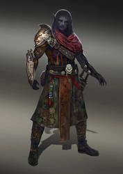 Dark elf rogue by Nahelus