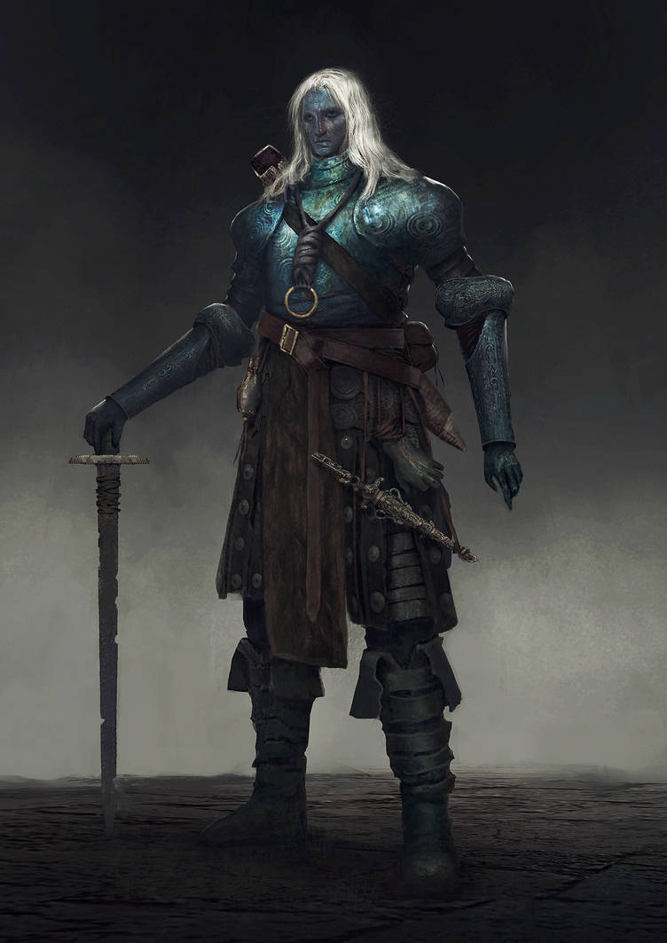 Dark elf concept by Nahelus