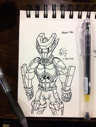 20 Sketches 20 Days May 2018 01: Magnet Man by Poila-Invictiwerks