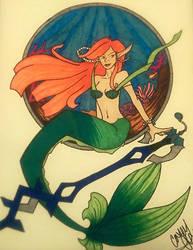 Mermaid and Keyblade by Cass-Devourer-oflove