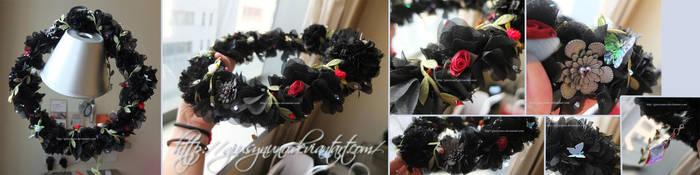 Hades' bride original flower crown by giusynuno