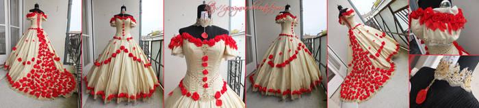 Original Rose Cascade Belle ballgown - BatB by giusynuno
