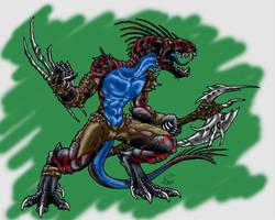 Warrior of Old by SerebrineyDrakon