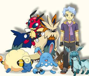 Me And My Pokemon Team! by MatrVincent