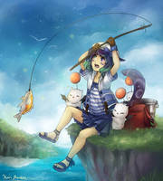 Commission: Fishing... by kariavalon