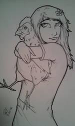 Chicken Hug WIP by PMDallasArt