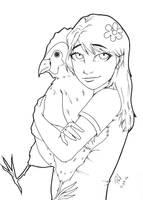 Chicken Hug by PMDallasArt