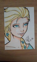 Elsa ATC card by PMDallasArt
