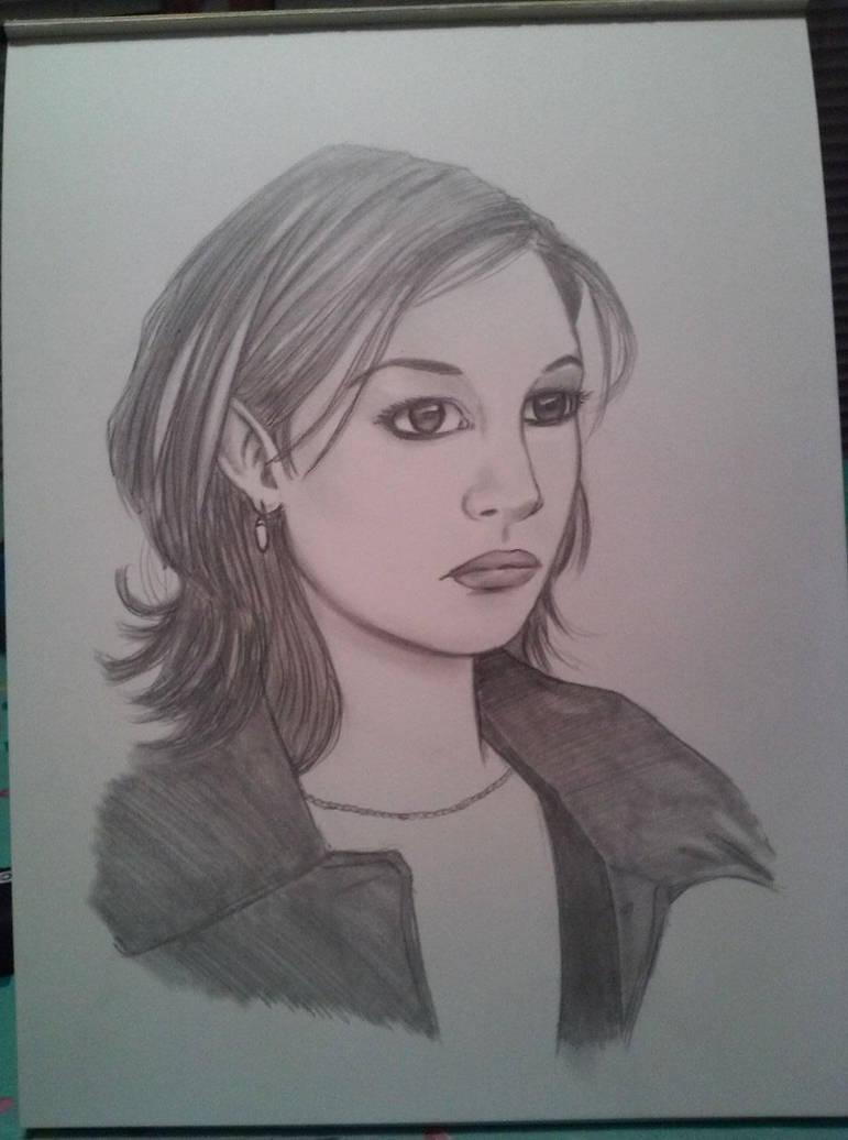 Julia Stiles Pencils by PMDallasArt