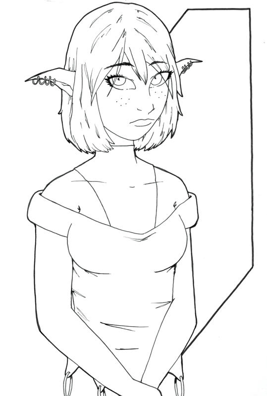 Pouty Elf by PMDallasArt