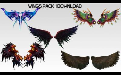 MMD Wings Pack 1 DL by UnluckyCandyFox