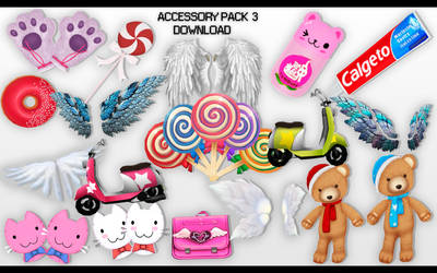MMD Accessory Pack 3 DL by UnluckyCandyFox