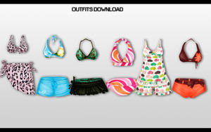 MMD Outfits pack DL by UnluckyCandyFox