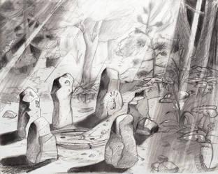 circle of stones by Bursaroo