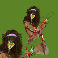 Zombie Sal WIP by vimfuego