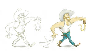 Thar's a snake in mah boot by vimfuego