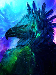 Cosmic Raptor by shimhaq98