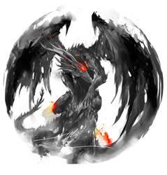 Black Dragon Kalameet by shimhaq98