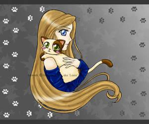 Kitty Hugs by Leara
