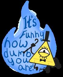 Bill Cipher .:Sticker:. by wateralchemist121