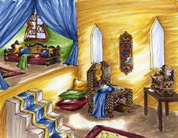 History 3 - Room sketch by Elsaprairie