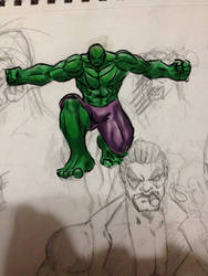 Hulk quick sketch by AlphaD16