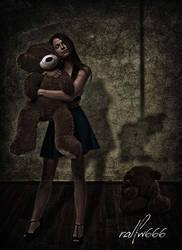 Heartbroken Teddy Bear by ralfw666