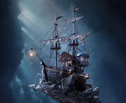 Pirate Ship 47999 by pngreee