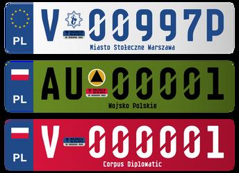 Registration plates vol. 2 by FollowByWhiteRabbit