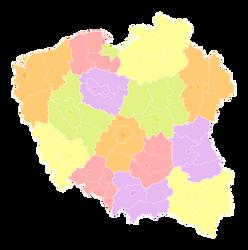 Poland Districts by FollowByWhiteRabbit