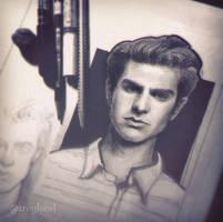 New portrait sketch. Andrew Garfield~ by trnglsovl